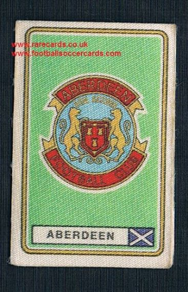 1979 Panini Football 79 silk sticker with backing paper  Aberdeen 425